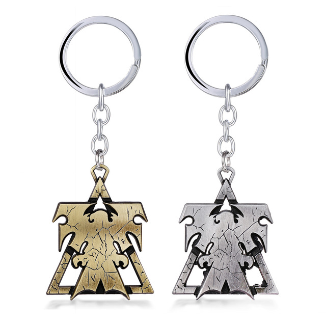 Movie Theme Game Jewelry Starcraft II 2 Keychain Wings of Liberty Terran Zerg Protoss Figure Symbol Key Chain Key Holder 2