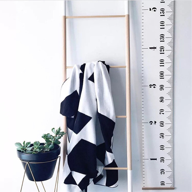 Nordic Style Baby Child Kids Height Ruler Kids Growth Size Chart Height Measure Ruler for Kids Room