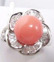 БЕСПЛАТНАЯ ДОСТАВКА >>>@@ Оптовая цена 16new ^ ^ ^ ^ Очаровательная! благородный ювелирные изделия Розовый Коралл Кольцо размер: 7.8.9
