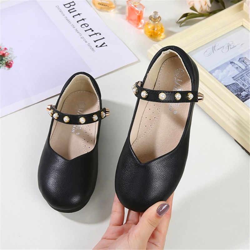 Klinknagel zachte bodem kinderen leren schoenen 2019 nieuwe meisjes prinses schoenen Koreaanse versie meisje enkele schoenen baby peas schoenen