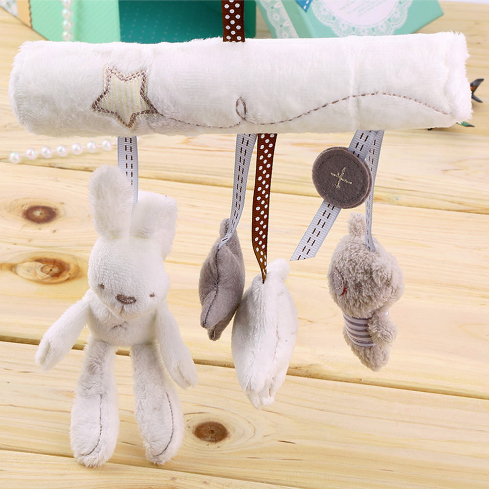 new arrival baby hanging toy baby rattle toy soft plush rabbit musical mobile products baby Christmas gift