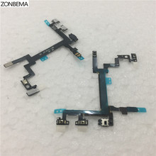 ZONBEMA New Power Switch button flex cable for iphone 5 5G on off ribbon Volume Mute flex cable Replacement Parts