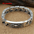 13mm Alibaba Express 925 Sterling Thai Silver Jewelry Bracelets for Women Men Vintage S925 Solid Thai Silver Chain Bracelets