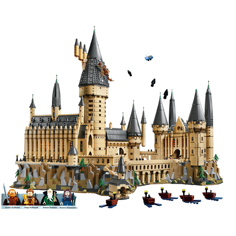 DHL Nuovo Harry Potter Magia Hogwarts Castello Compatibile Legoing Harry Potter 71043 Building Blocks Mattoni Bambini di Natale FAI DA TE Giocattoli