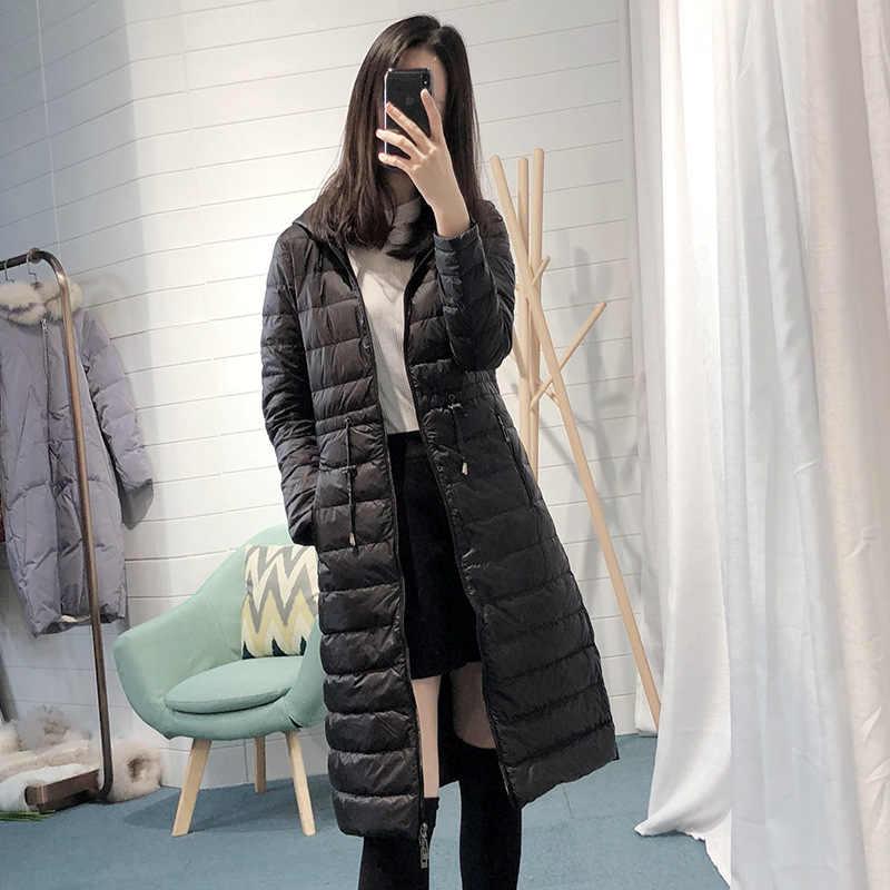 Новые брендовые пуховики женские зимние пуховики женские длинные пальто с капюшоном ветрозащитные Длинные пуховики толстые теплые куртки