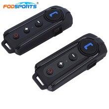 2 шт. Fodsports мотоциклетный домофон шлем гарнитуры Bluetooth гарнитура мотоцикл FM радио домофон поддержка BT-S2