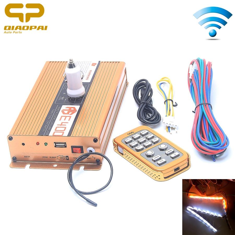 News 18 Sound Car Tone Alarm 400W Automotive Sound 12V Horn Wireless Remote Control Police Warning