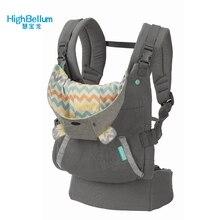 Mochila portabebés con tirantes para niños, mochila con tirantes para engrosar los hombros, ergonómica, con capucha, canguro, 360