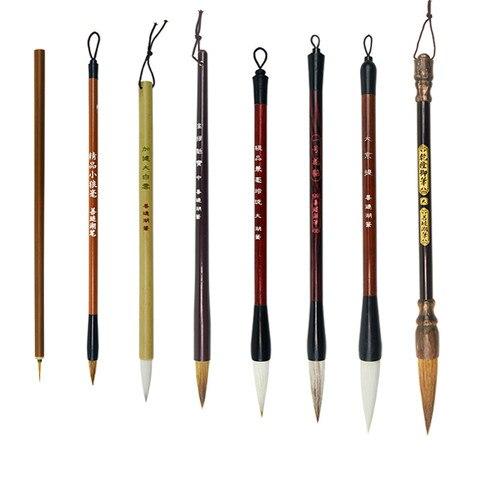 pinceis chineses da caligrafia caneta conjunto de pincel de pintura paisagem chinesa peonia aquarela pintura