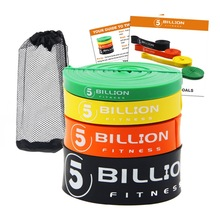 5BILLION Heavy Duty Latex Fitness Resistance Bands Set Dra upp Loop Band för Styrka Vikt Träning Power Exercise