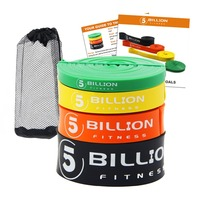 5BILLION Heavy Duty Latex Fitness Resistance Bands Set Pull Up Loop Band for Strength Weight Training Power Exercise