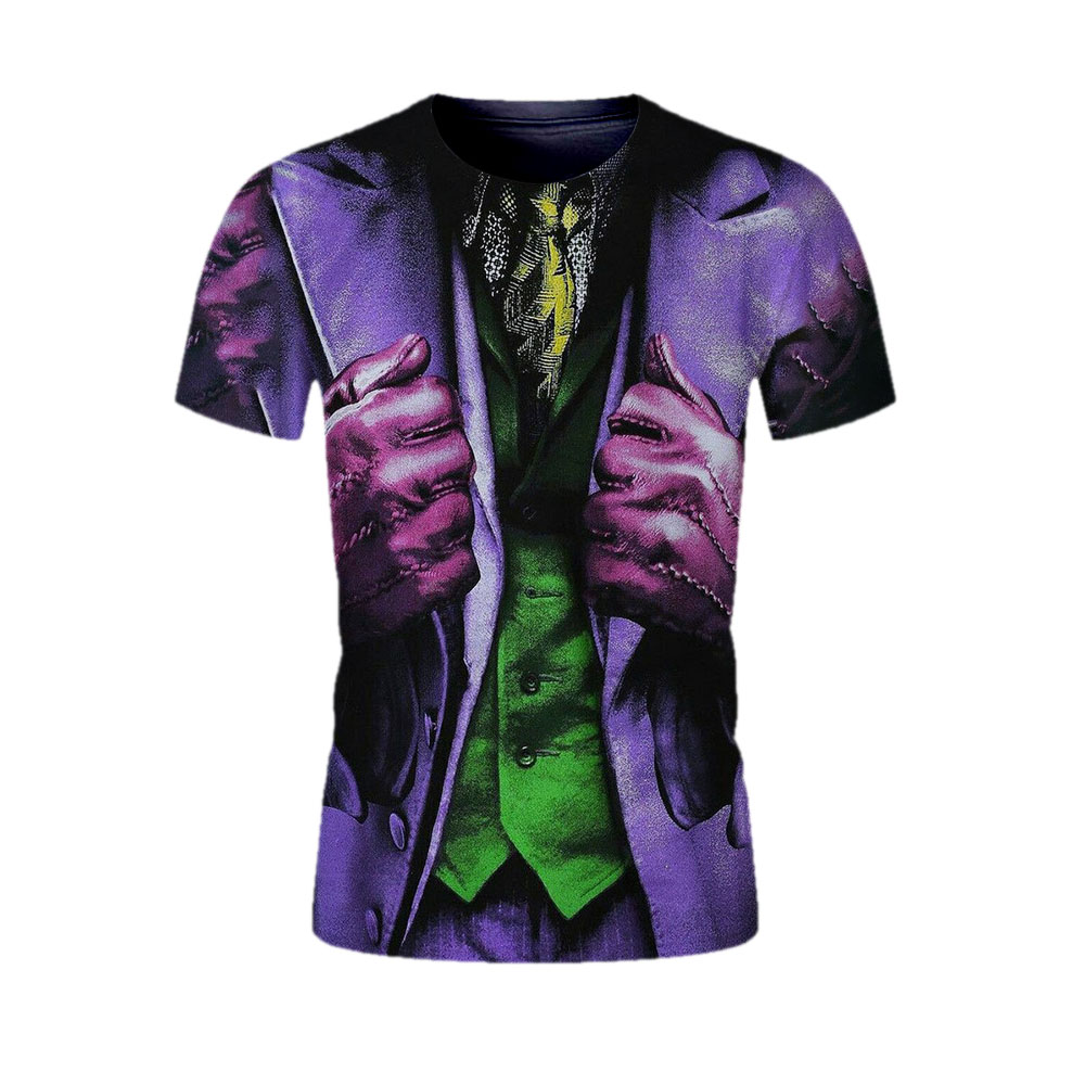Darkish Knight males 3D clown Print Tshirt Teen males/ladies Garments T Shirt Tees Summer season male/famale T-shirt Sizzling Males's Clothes Tops T-Shirts, Low cost T-Shirts, Darkish Knight males 3D...