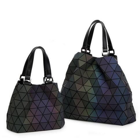 Luminous women's geometric design bag