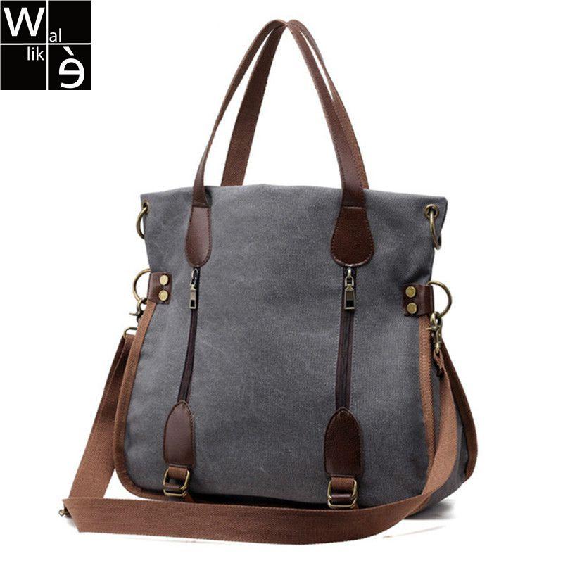 Big Canvas Bag Ladies Shoulder Bags Handbag Brands Large Tote Bags