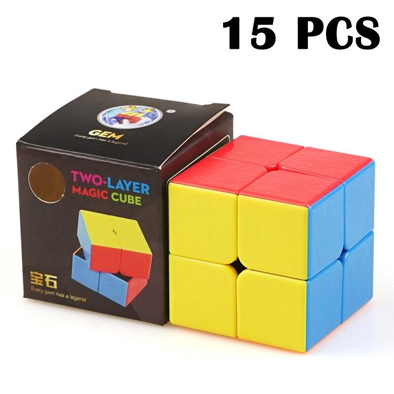 15 pièces ShengShou BaoShi gemme légende Cubo magico 50mm vitesse lisse Puzzle cube Non autocollant magique cube jouets pour enfants néo Cube