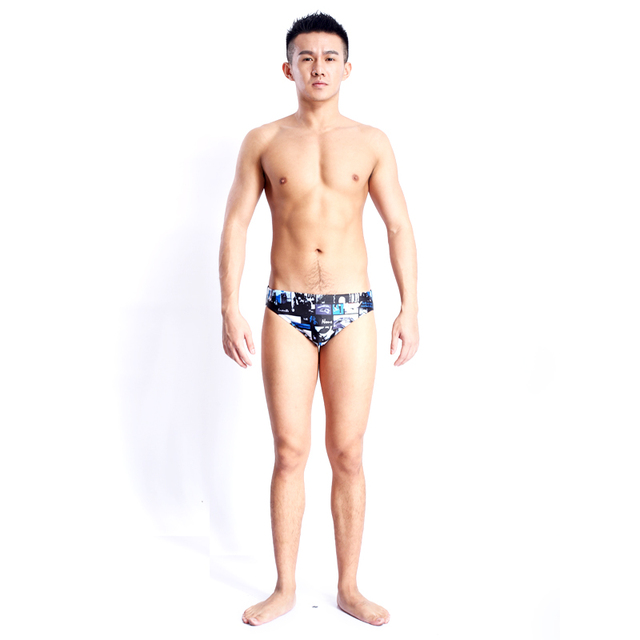 cec254f1254f3 HXBY 2017 Swimwear Men Boys Swim Briefs Competitive Swimming Suit Swimsuit  Sunga Racing Swimsuits Printing Sharkskin Swim Shorts