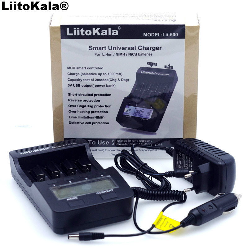 Neue Liitokala lii500 Smart Universal LCD Li-Ion NiMh AA AAA 10440 14500 16340 17335 17500 18490 17670 18650 Ladegerät