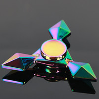 Colorful Genji Darts Hand Spinners Metal Fidget Spinner For Autism And ADHD Kids Spiner Tri Finger