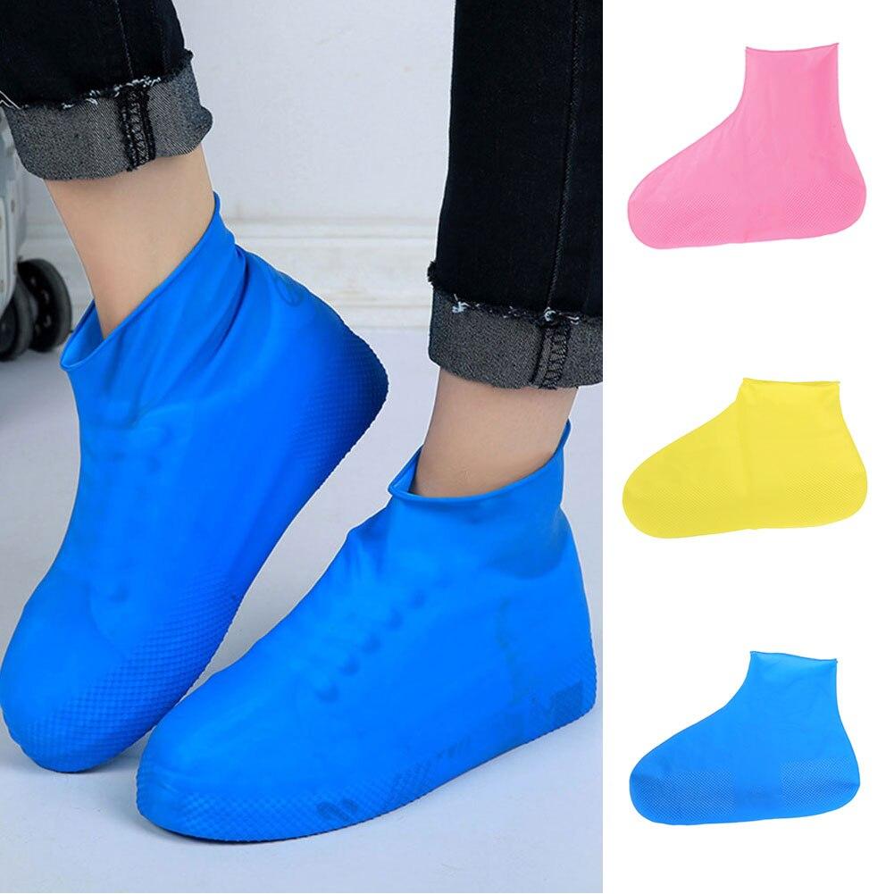 Waterproof Reusable Rain Shoes Covers Rubber Slip-resistant Rain Boot Overshoes Man&Women Shoes Accessories