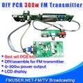 FMUSER FSN-350K 300 Вт FM Трансляция Передатчик Соберите ПЕЧАТНОЙ ПЛАТЫ DIY Kit Amp + Control + ЖК-Дисплей