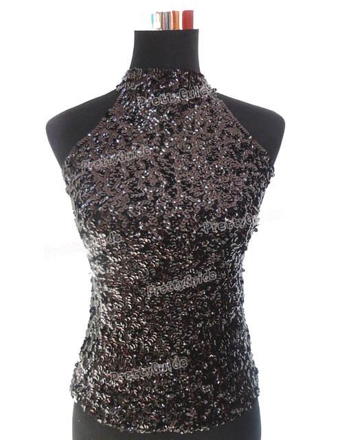 36bf0b21a4af38 Online Shop PrettyGuide Women s Shimmer Flashy All Sequins Embellished Sparkle  Vest Tank Tops 6 Colors 2 size