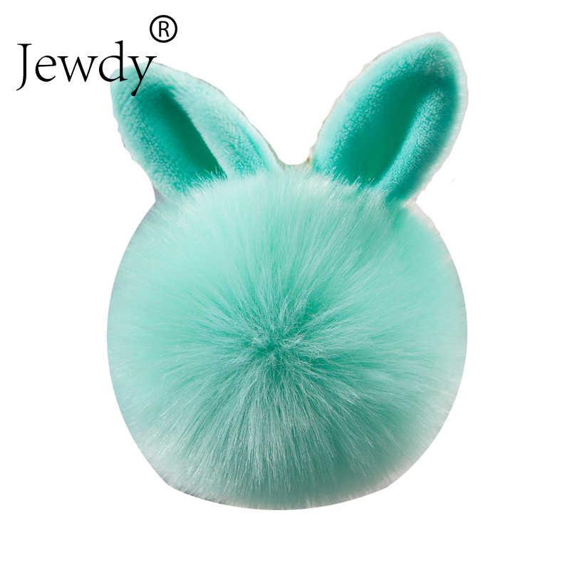 Coelho chaveiro pom pom pom chaveiro de pele de coelho artificial bola chaveiros porte clef pompom carro pingente pompom saco encantos jóias