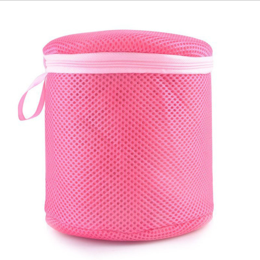Happy Eco-Friendly Meterial Good Quality Red Women Bra Laundry Lingerie Washing Hosiery Saver Protect Mesh Round Bag
