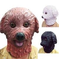 1 ADET Süper Sevimli Tam Yüz Yetişkin Teddy Köpek Lateks Maskeleri Nefes Cadılar Bayramı Masquerade Fantezi Elbise Parti Cosplay Kostüm Maske