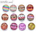 12pcs/lot Mixed Colors Fabric Pattern 18mm Ginger Snap Button Faceted glass Snap Fit snap Button Jewelry KZ0195
