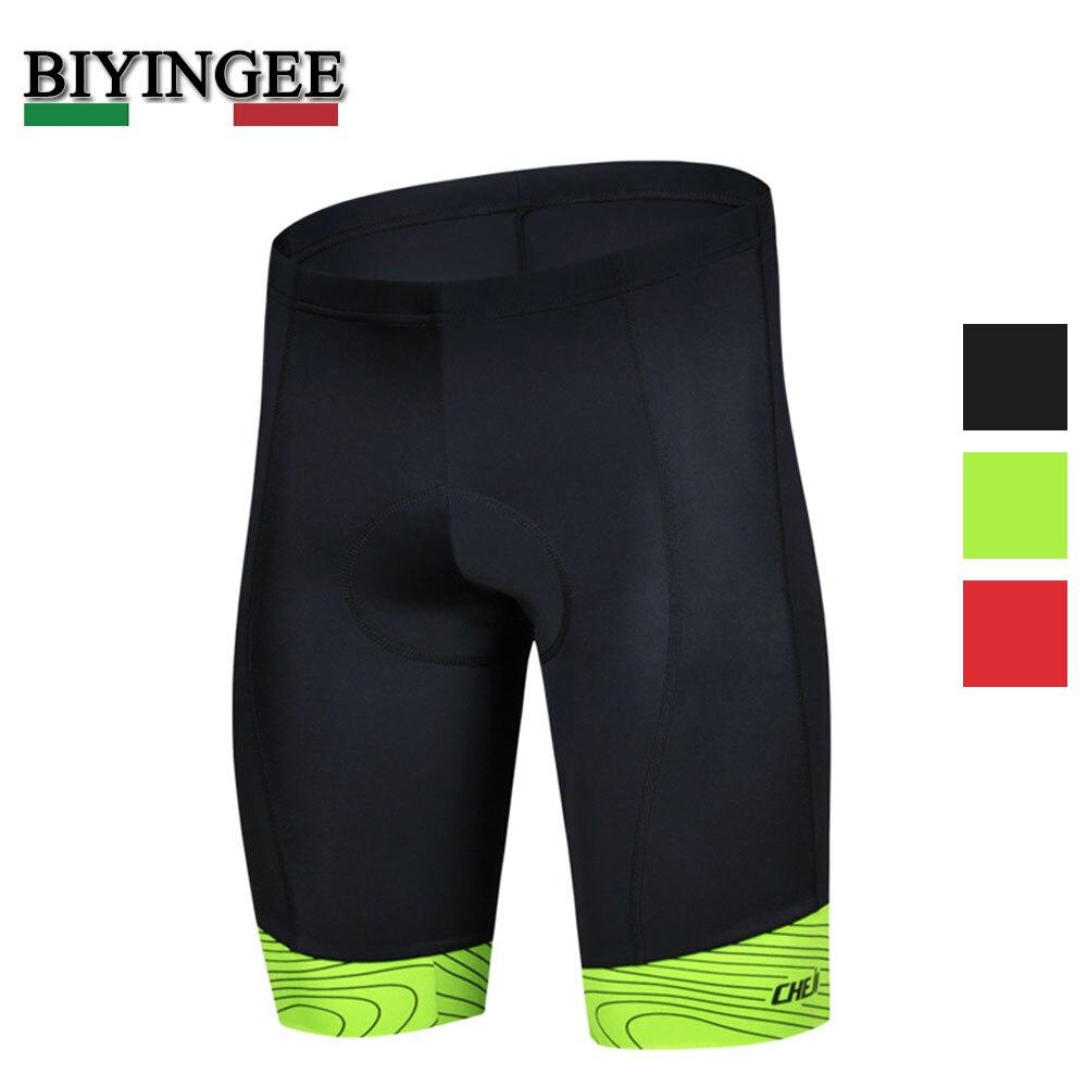 Mens Cycling Shorts MTB Padded CoolMax Bicycle Bike Compression Lycra Black