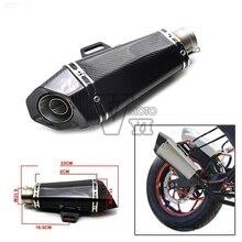 New Motorcycle Scooter Akrapovic escape pipe yoshimura Exhaust Muffler pipe For YAMAHA YZF R1 R6 FZ1 FZ6 Fazer XJ6 YBR 125 250