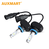 Auxmart S1 H11 Car Headlight Kit LED 50W Set 8000lm CSP CREE Chips Bulb Auto Head