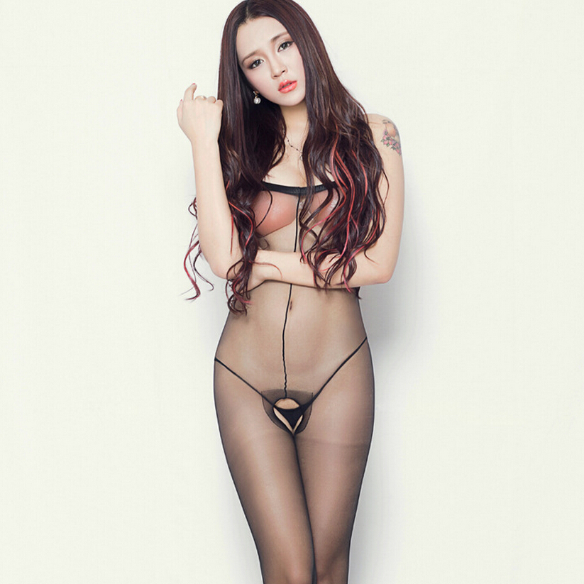 Sexy Lingerie Siamese Stocking Thin Transparent Adult font b Sex b font Products Bodysuits Perspective Erotic