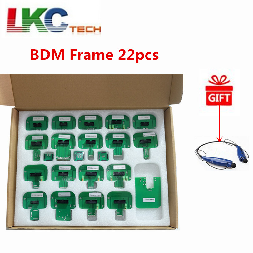 2018 LED BDM Frame 22pcs ECU RAMP Adapters KTM Dimsport BDM Probe Adapters Full Set for FGTECH BDM100 KESS KTAG Free Shipping