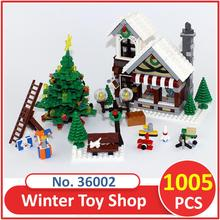 Lepin Building Blocks Model 36002 Compatible Legoes Building The Winter Toy Shop 10249 Model Toys For Children