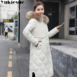 2018 New Winter Jacket Women Faux Fur Hooded Parka Coats Female Long Sleeve Thick Warm Snow Wear Jacket Coat Mujer Quilted Tops 5