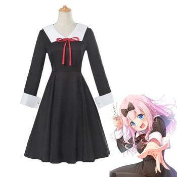 7c2756d97 Anime Kaguya-sama amor es la guerra Fujiwara Chika-Chan Cosplay Cotumes las  mujeres las niñas vestido de uniforme sombrero conjunto de