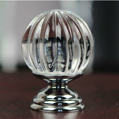 Pumpkin 30mm Acrylic Crystal Gl S Furniture Cabinet Drawer Pull Handle Kitchen Door Wardrobe Size In Pulls From Home