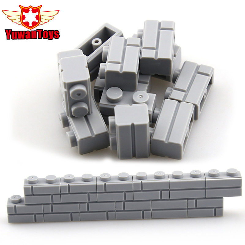 1 2 MOC City Friend Figures 50Pcs Building Blocks wall DIY Blocks Baseplate Small Bricks Base
