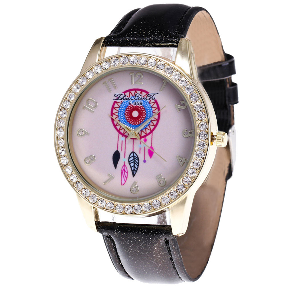 NEW2019 minimalist lover's watch Fashion Casual Ladies Watch Glass Mirror Leather Strap Quartz Watch Drop Shipping relogio mujer