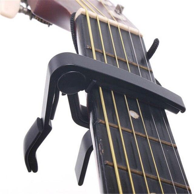 2017 חדש כסף מהיר שינוי קלאמפ מפתח אקוסטית קלאסי גיטרה קאפו לטון התאמה לאקוסטית גיטרה Ukulele חדש