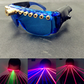 Vidros do laser emissor de luz bares discotecas roupas show de dança do laser equipamento necessário linha laser óculos