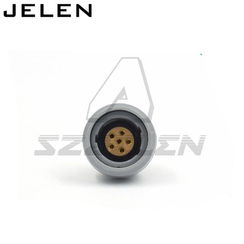 SZJELEN connectors 2p-serie 6 pin connector, CAB.M06.GLA.CxxG CKB.M06.GLLG , Medical connectors 6pin plug and socket