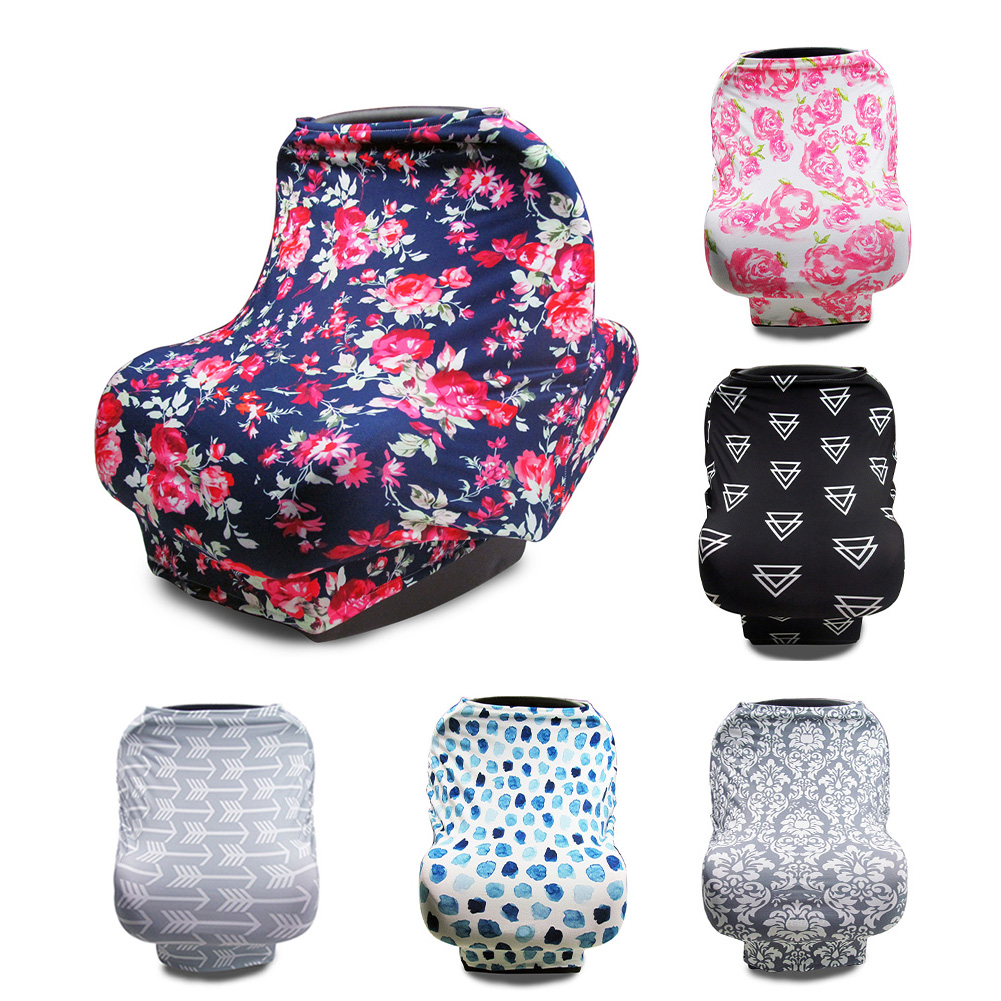 Baby Stroller Car Seat Scarf Nursing Breastfeeding Privacy Safety Cover  Infant Car Seat Stroller Breast Feeding Scarf Nursing