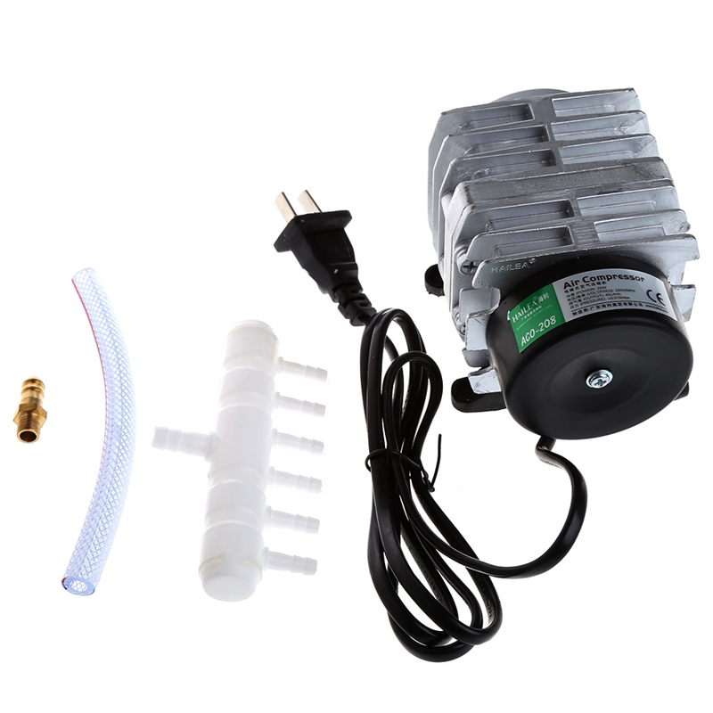45L/min 25W Electromagnetic Air Compressor Aquarium Oxygen Pond Air Pump Aerator Aquarium CO2 & Akvaryum Ozone Equipments