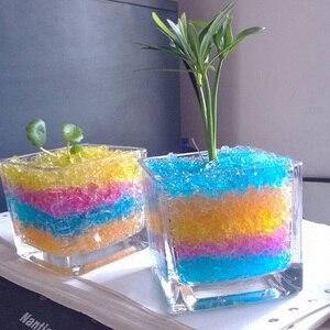 2000Pcs/lot Crystal Soil Mud Hydrogel Gel Kids Children Toy Water Beads Growing Up Balls Wedding Home Flower Vase Decoration C