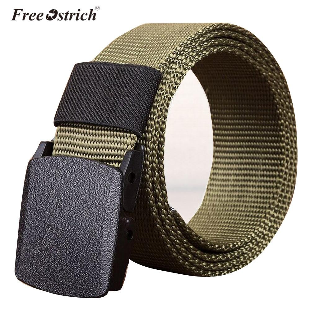 Бесплатная Страусиные мужские спортивные нейлоновые повседневные однотонные тканевые поясные ремни с пряжкой высокого качества A1120|belt waist|belt high qualityweb belt | АлиЭкспресс