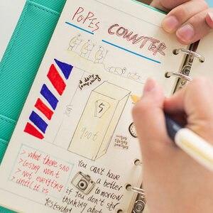 Image 5 - Neue Macaron Hohl Pu leder Spirale Notebooks Schreibwaren, Feine Person Agenda Organizer/binder Tagebuch Wochenplaner Filofax A5 A6