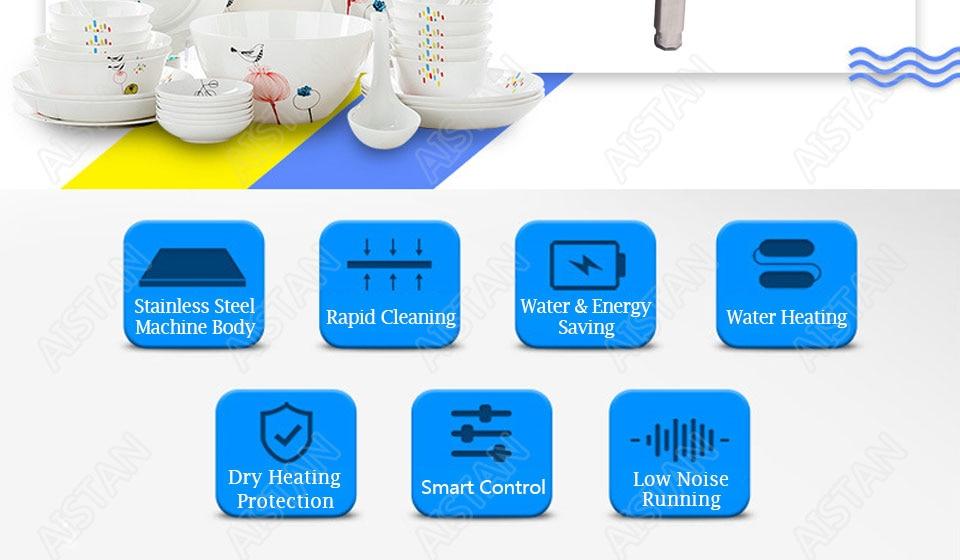 CSB60/CSB80 automatic ultrasonic dishwasher machine for commercial kitchen dish washing 5
