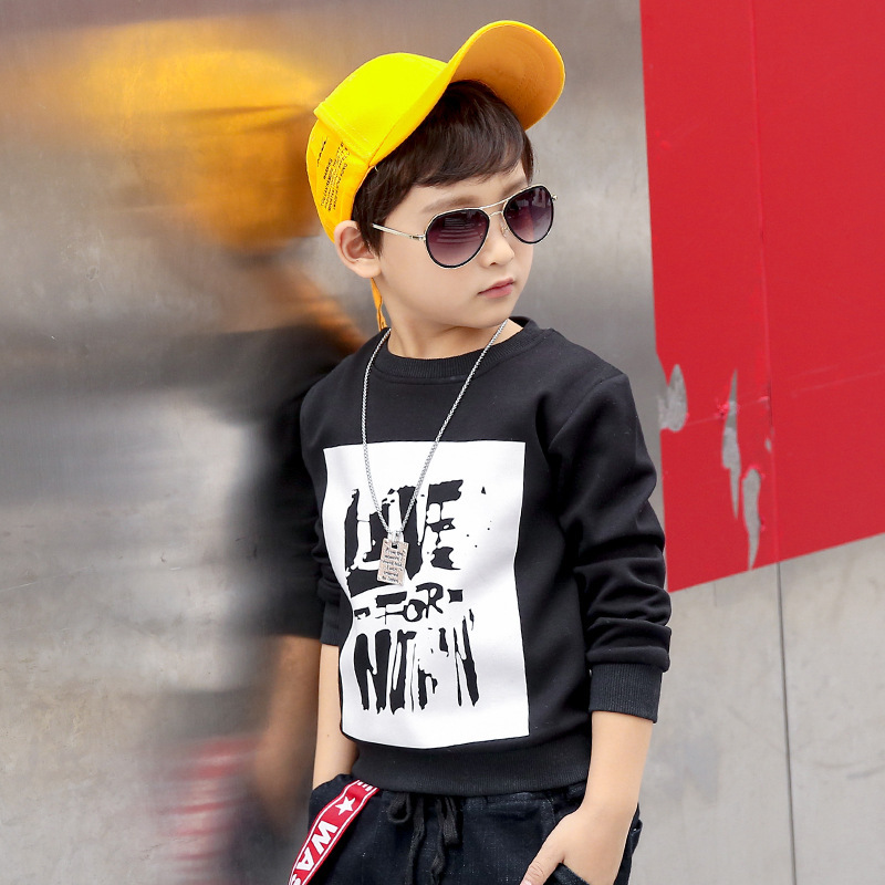 4eb92e9927e7 Kids Boys T-shirt 2018 spring   autumn new large children s Letter ...